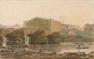 Frederick Nash - The Old Dee Bridge, Chester, da Handbridge