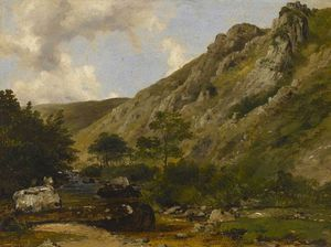 Frederick Richard Lee - il fiume Teign , south devon