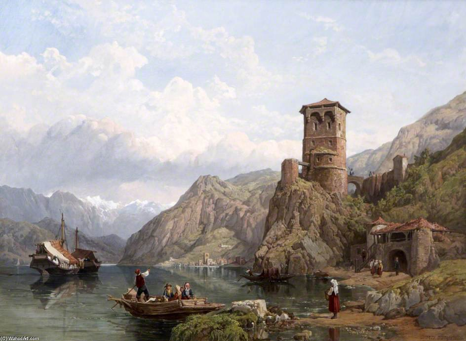 Lago Di Garda di George Clarkson Stanfield (1793-1867, United Kingdom)