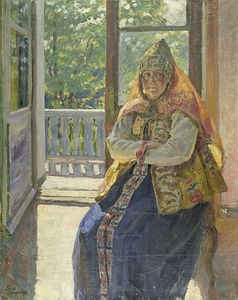 Sergei Arsenievich Vinogradov - donne in Baltico  abito