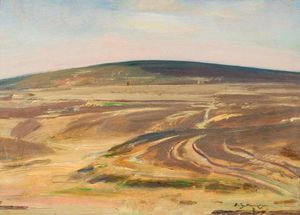 Alfred James Munnings - A View On Exmoor -
