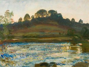 Alfred James Munnings - Brightworthy Ford, Withypool, Exmoor - (12)