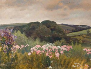 Alfred James Munnings - giardino Withypool , Exmoor
