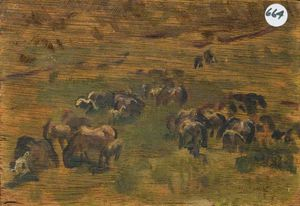 Sir Alfred James Munnings - Studio di Exmoor Ponies