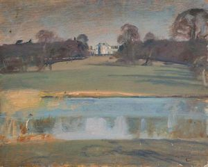 Alfred James Munnings - vista con Tendring Sala , Suffolk