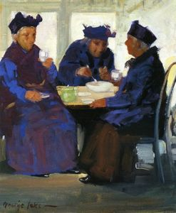 George Benjamin Luks - tè party