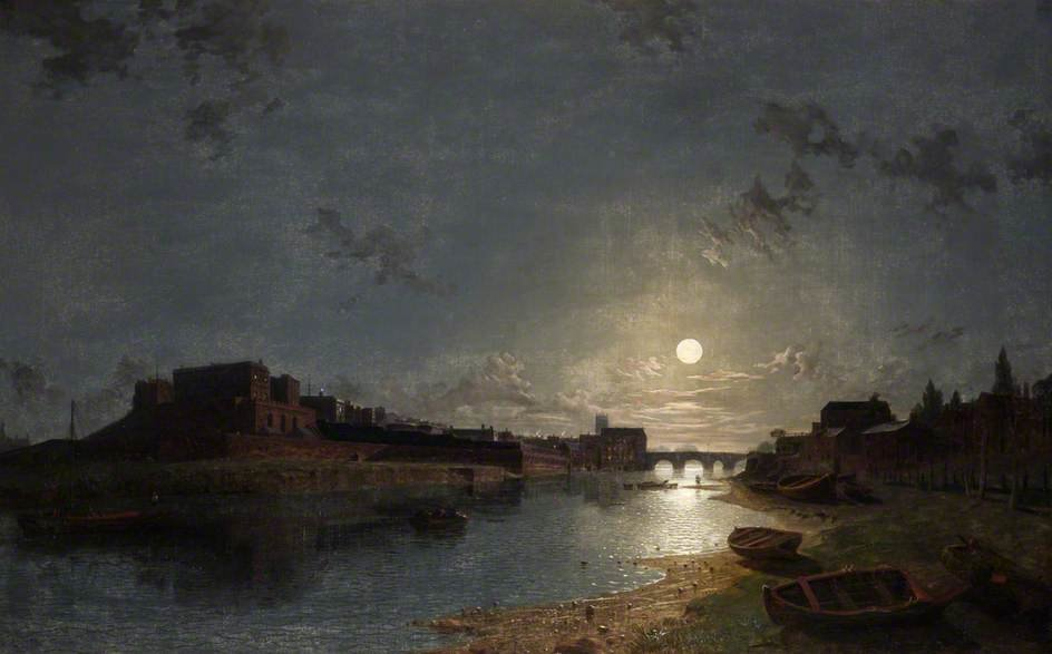 Chester Castello al chiaro di luna di Henry Pether (1828-1865, United Kingdom)