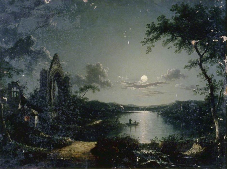 Scena Moonlit di Henry Pether (1828-1865, United Kingdom) | WahooArt.com