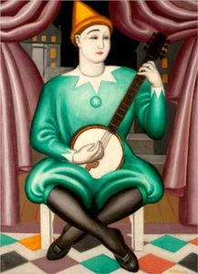 Jean Dominique Antony Metzinger - Clown Au Banjo