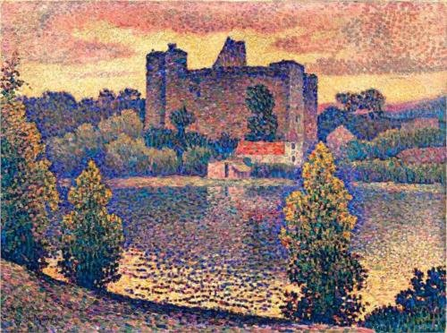 Le Chateau De Clisson di Jean Dominique Antony Metzinger (1883-1956, France)