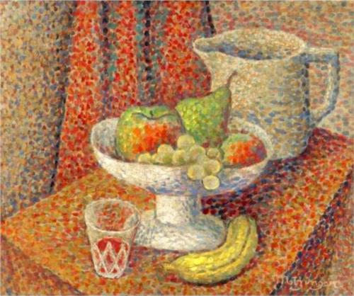 nature morte di Jean Dominique Antony Metzinger (1883-1956, France)
