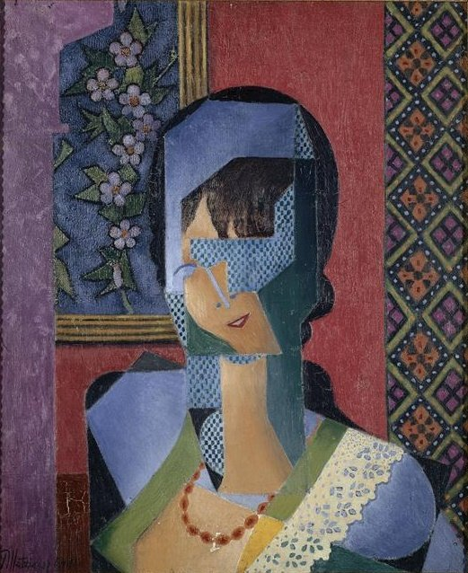 donna con Pizzo  di Jean Dominique Antony Metzinger (1883-1956, France)