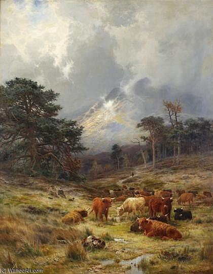 braes at orchy , Argylshire di Louis Bosworth Hurt (1856-1929, United Kingdom)