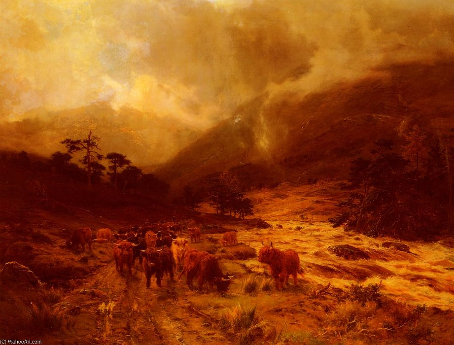 Glen Dochart, Perthshire di Louis Bosworth Hurt (1856-1929, United Kingdom) | Riproduzione Art | WahooArt.com