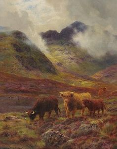 Louis Bosworth Hurt - Highland bestiame al pascolo