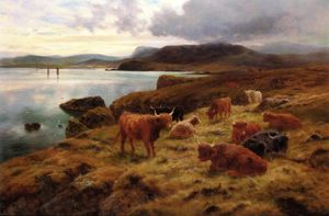 Louis Bosworth Hurt - On The Cliffs At Shetland
