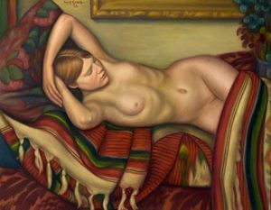 Mark Gertler - dormire nudo