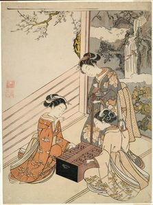 Suzuki Harunobu - Watching The Game