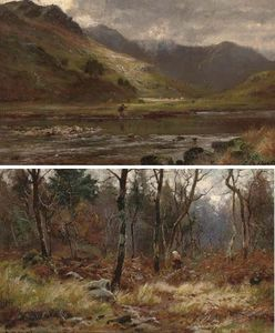 Louis Bosworth Hurt - Un pescatore a Glen Shiel, Ross-shire