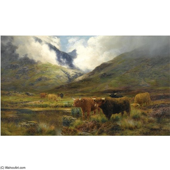Clachaig, Glencoe di Louis Bosworth Hurt (1856-1929, United Kingdom) | WahooArt.com