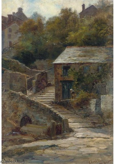 Clovelly, North Devon di Louis Bosworth Hurt (1856-1929, United Kingdom)