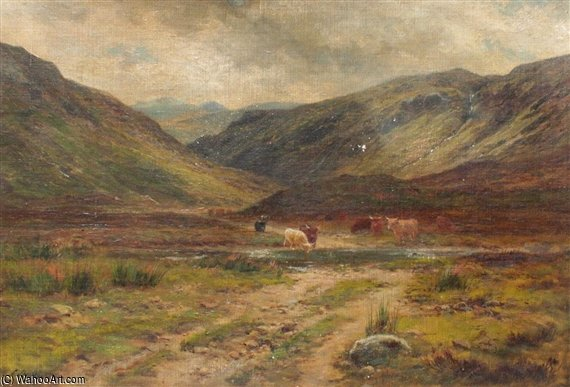 Glen Logan, Kinlochewe di Louis Bosworth Hurt (1856-1929, United Kingdom)