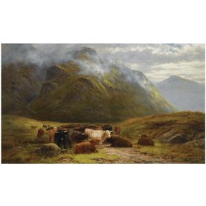 Louis Bosworth Hurt - Montanaro cattle riposo vicino buchal etive , Valletta Coe