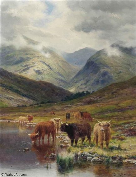 In Glen Nevis, Scozia di Louis Bosworth Hurt (1856-1929, United Kingdom)