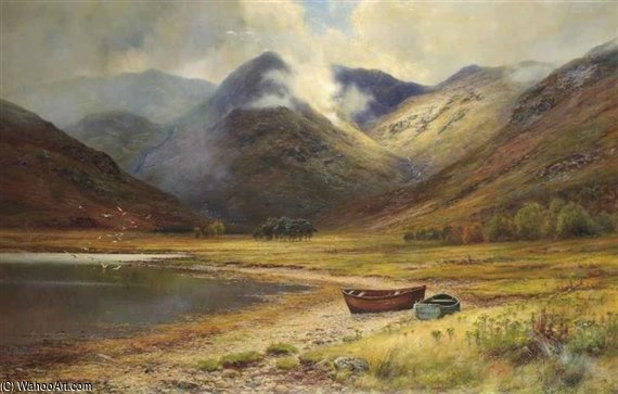 la testa Di Kingairloch di Louis Bosworth Hurt (1856-1929, United Kingdom) | WahooArt.com