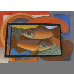 Mark Gertler - studio per pesci in vetro caso