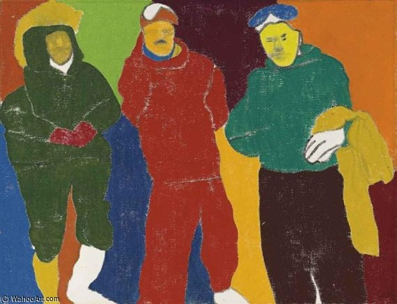 un piccolo disfatta  di Ronald Brooks Kitaj (1932-2007, United States)
