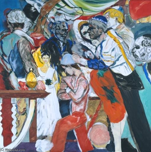 Il matrimonio di Ronald Brooks Kitaj (1932-2007, United States) | Copia Pittura | WahooArt.com