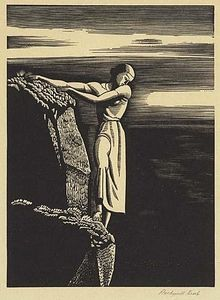 Rockwell Kent - Girl On Cliff (l Abisso)