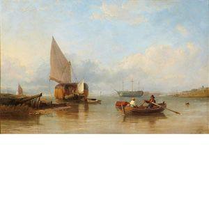 Thomas Sewell Robins - A Harbor in un giorno calmo