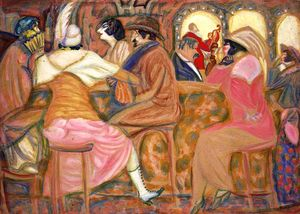 Boris Dmitrievich Grigoriev - Cafe parigino