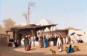 Charles Théodore Frère - mercato in Cairo