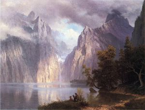 Albert Bierstadt - Scene in Sierra Nevada