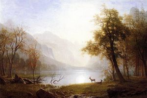 Albert Bierstadt - Valle a kings canyon