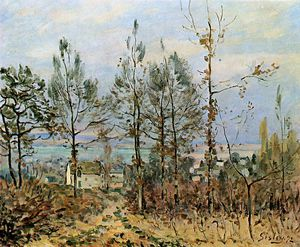 Alfred Sisley - Case in louveciennes Sole