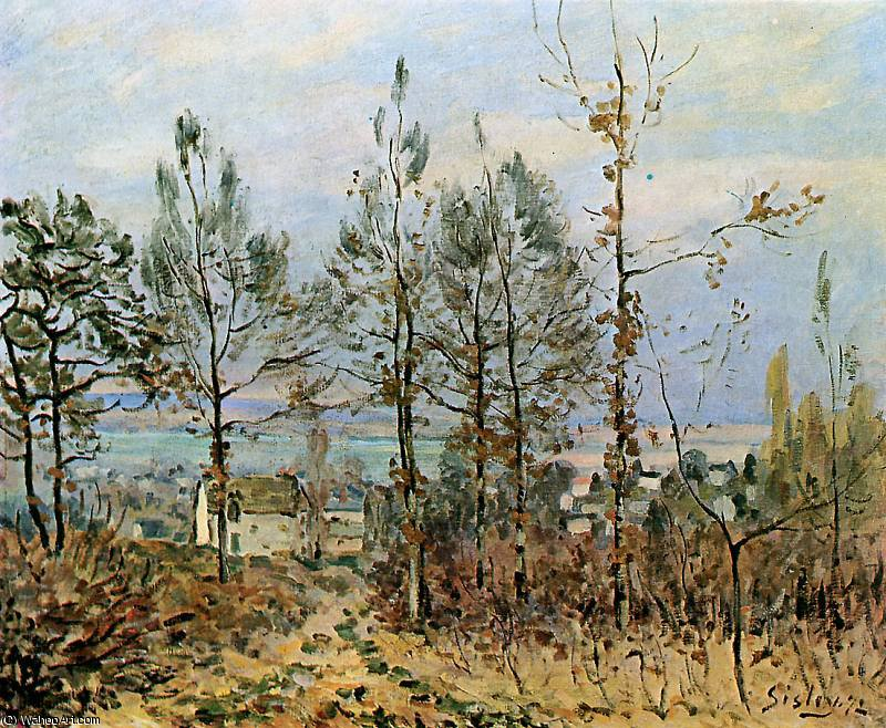 Case in louveciennes Sole di Alfred Sisley (1839-1899, France)