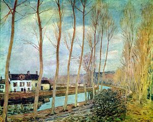 Alfred Sisley - Loing canale Sole