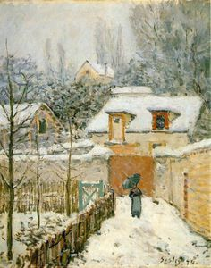 Alfred Sisley - neve a louveciennes -   -