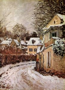 Alfred Sisley - Street a Louveciennes sole