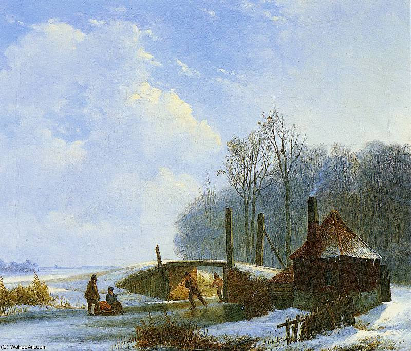 scaters sole di Andreas Schelfhout (1787-1870, Netherlands) | WahooArt.com