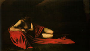 Caravaggio (Michelangelo Merisi) - Reclinabile Battista