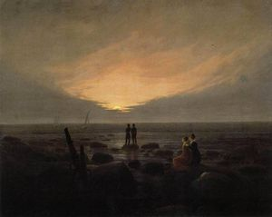Caspar David Friedrich - Moonrise dal Sea