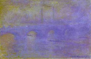 Claude Monet - il ponte waterloo. la nebbia