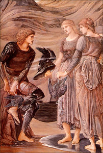 Edward Coley Burne-Jones - L inserimento di Perseo particolare