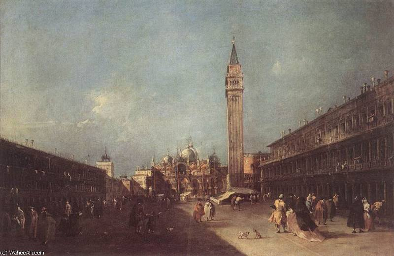 piazza san marco di Francesco Lazzaro Guardi (1712-1793, Italy)