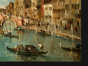 Francesco Lazzaro Guardi - Mostra su il cannaregio Canale